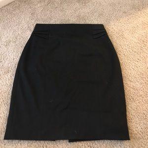 Express black business skirt